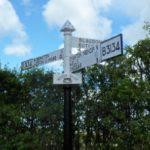 Photo AONB Unit Ellick Road Blagdon Cast Iron Finger Post