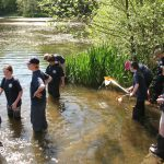 Young rangers pond dipping