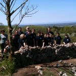 Photo AONB Unit Young Rangers Dry Stone Walling session