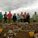 AONB Volunteers dry stone walling